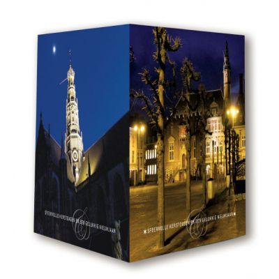 Haarlem | ruimtelijke kerstkaart met 3 zijdes