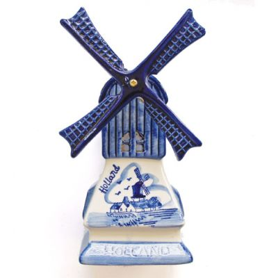 Waxinelichthouder keramieke Hollandse molen