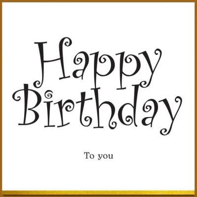 verjaardagskaart Happy birthday to you, vrolijk