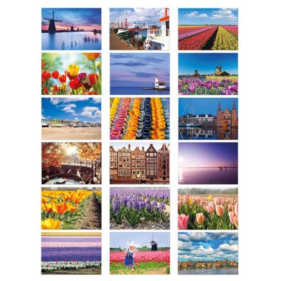 Extra grote toeristische ansichtkaarten van Holland Nederland