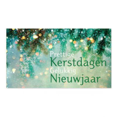 Geld kado envelop met groene kersttakken