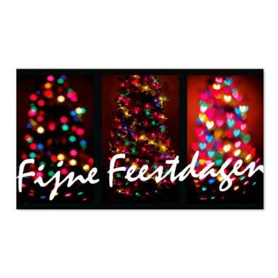 Geld kado envelop kerstbomen met lichtjes