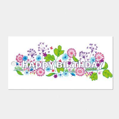 Kado- of bloemkaartje 'Happy birthday', set van 3