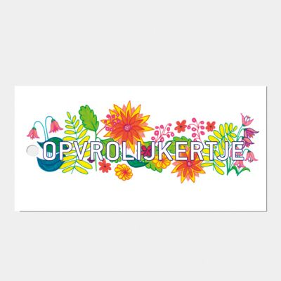 kad0- of bloemkaartje Opvrolijkertje, set van 3