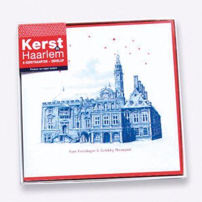 Doosje met 6 kerstkaarten Haarlem en enveloppen