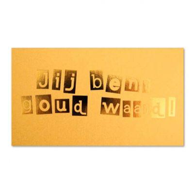 Geld-kado-envelop Jij bent goud waard