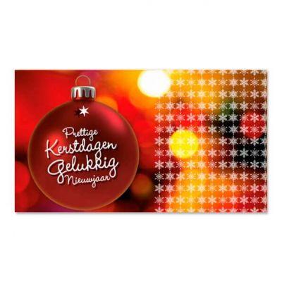 Geld-kado-envelop kerst, rode kerstbal