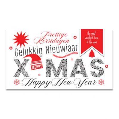Geld-kado-envelop voor de kerst, X-mas