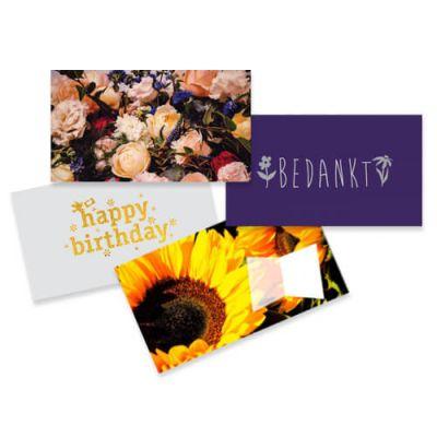 Set van 4 geld cadeau enveloppen bloemen