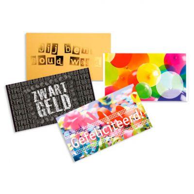 cadeau enveloppen set van 4, verjaardag