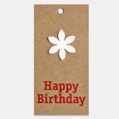 Verpakt per 6 | Kraft - Happy Birthday