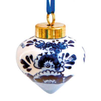 Kerstbal delfstblauw in tolvorm