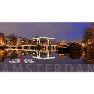 Amsterdamse kerstkaart met Magere brug