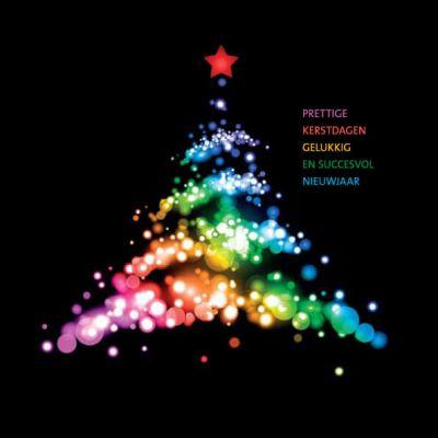 Kerstkaart Alzheimer Nederland  Sfeervolle kleurrijke kerstboom