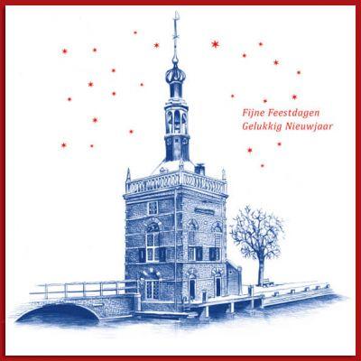 Kerstkaart van Accijnstoren van Alkmaar