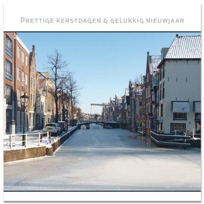 Centrum van Alkmaar in wintertijd