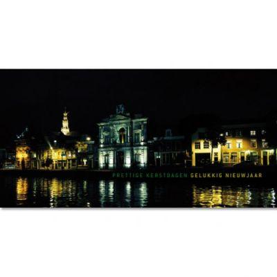 Spaarne bij nacht Haarlem