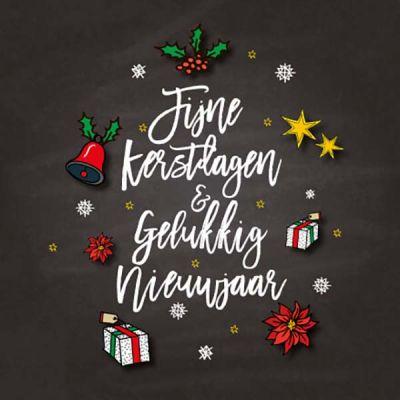 Handgetekende kerst-illustraties