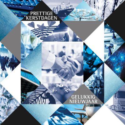 Zakelijke beelden in blauwtinten