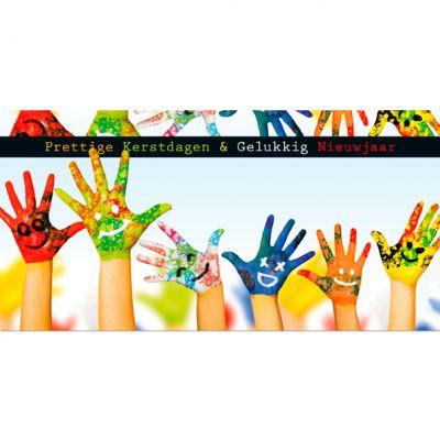Geverfde kinderhanden