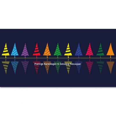 Make-a-wish |Kleurrijke kerstbomen op een rij