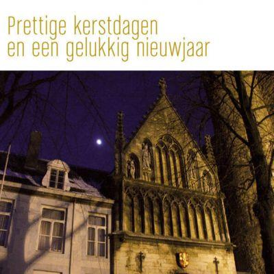 Kerstkaart Maastricht Onze lieve Vrouweplein