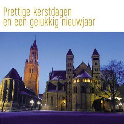 kerstkaart van Maastricht, Vrijthof met sneeuw