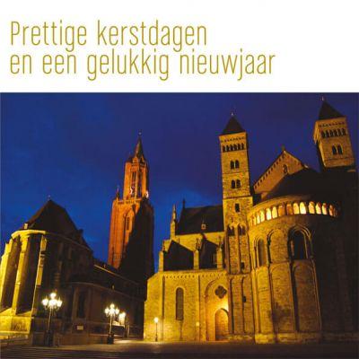 Maastrichtse kerstkaart plein Vrijthof uitgelicht