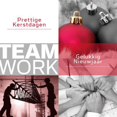 Teamwork in rood en grijs