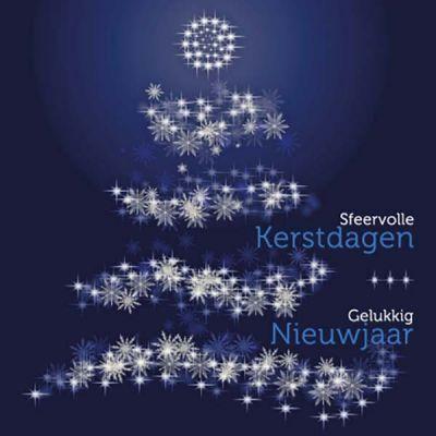 Zakelijke kerstkaart in sfeervol blauw