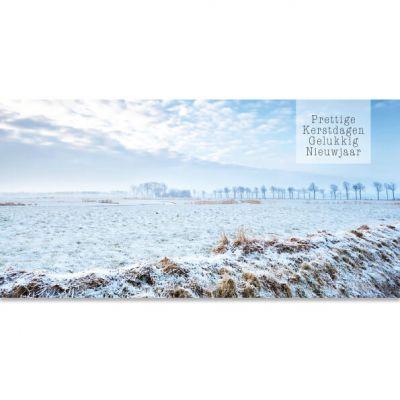 kerstkaart winterlandschap nederland natuur