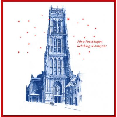 Kerstkaart Zaltbommel Bommelse Toren