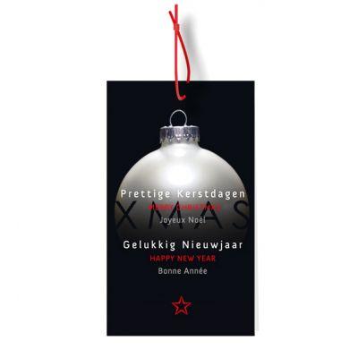 Geschenklabeltjes-set kerstbal