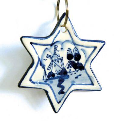 kerstster Delfstblauw keramiek voor kerstboom