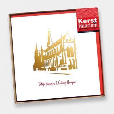 Kerstverpakking Haarlem in goud