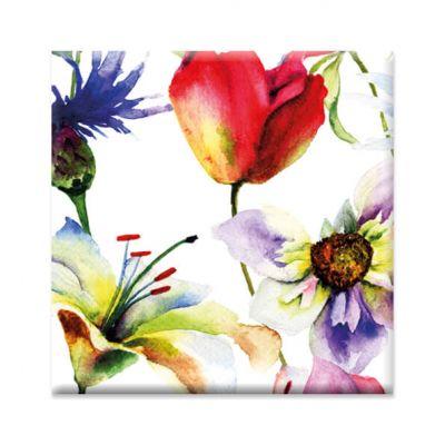 Magneet bloemen kleurrijk