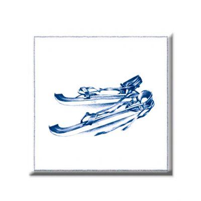 Koelkastmagneetje 'Delfstblauw' - schaatsen