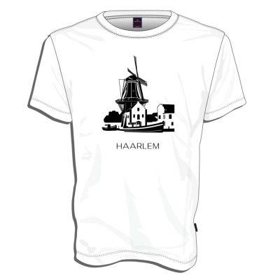 Mooi wit t-shirt  met unieke illustratie van Molen de Adriaan