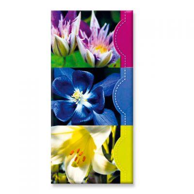 memoblok bloemen, set van 3 stuks (lelie, clematis)