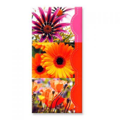 Memoblokjes met bloemen, set van 3 stuks