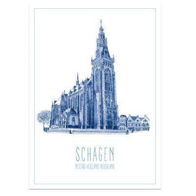 A3 poster van Schagen, stad poster