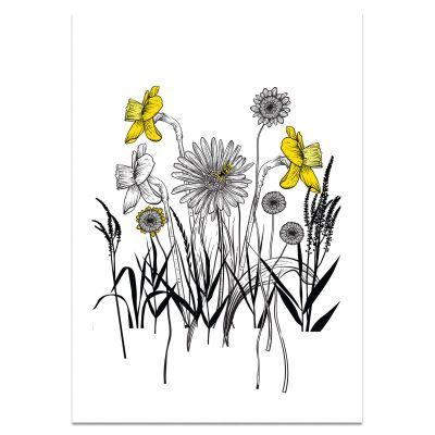 Poster met bloemen en narcissen, A4