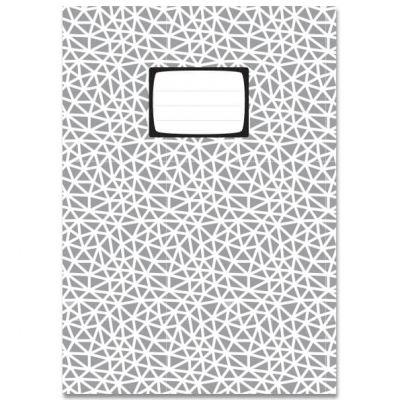 A5 Ruitjes schrift met driehoekjes patroon in grijs en wit