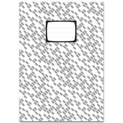 Schrift A5 ruit (10 mm), in zwart wit