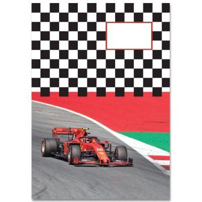 A5 Schrift Formule 1 Ferrari , gelinieerd