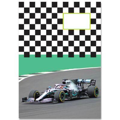 A5 Schrift Formule 1 Mercedes, gelinieerd