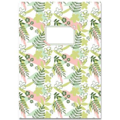 Schrift A5 met bloemen en blaadjes, lijntjes
