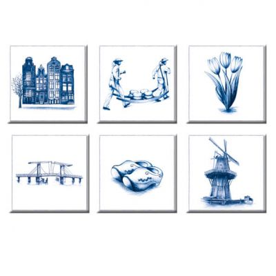 Magneten Holland Delfstblauw | set van 6