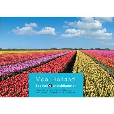 Set 6 grote ansichtkaarten Holland, geschikt voor postcrossing