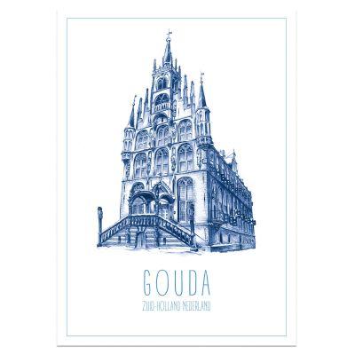 A3 poster Gouda, stadhuis